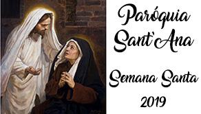 Programação da paróquia para a Semana Santa 2019